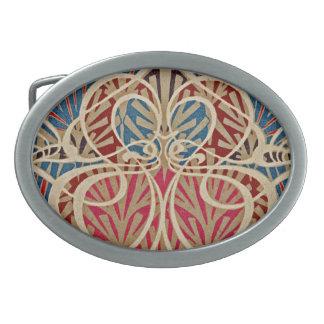 Art Nouveau Pattern #10 at Emporio Moffa Oval Belt Buckle
