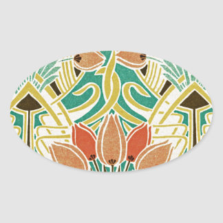 Art Nouveau pattern #11 Oval Sticker