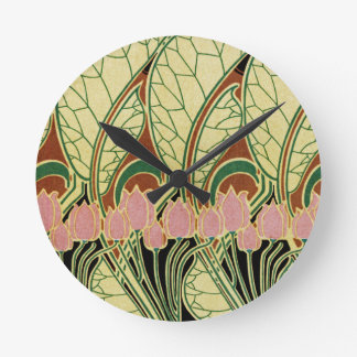 Art Nouveau pattern #1 Round Clock