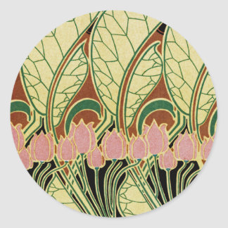 Art Nouveau pattern #1 Classic Round Sticker