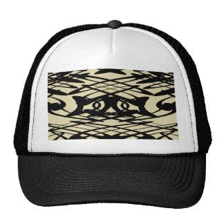 Art Nouveau Pattern in Beige and Black. Trucker Hat