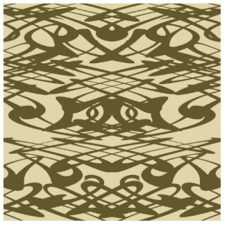 Art Nouveau Pattern in Beige and Brown Cut Out