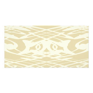 Art Nouveau Pattern in Beige and Cream Photo Cards