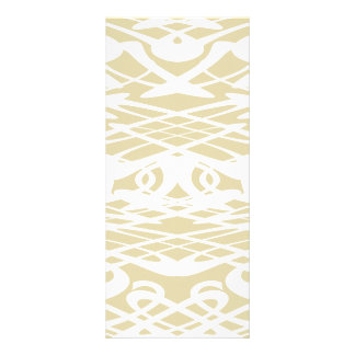 Art Nouveau Pattern in Beige and White. Custom Rack Cards