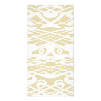 Art Nouveau Pattern in Beige and White Photo Cards
