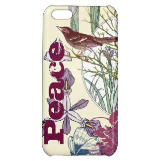 Art Nouveau Peace Butterfly Bird Flower iPhone iPhone 5C Case