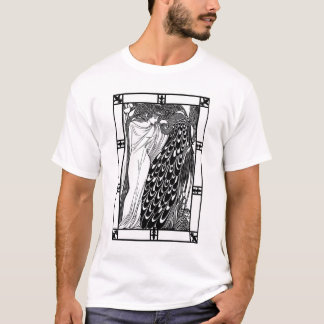 Art Nouveau Peacock Artwork - The Kiss T-Shirt