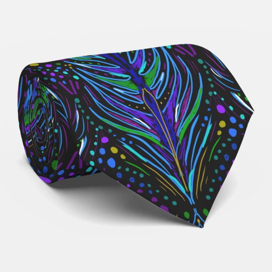 art nouveau peacock feather necktie men's tie