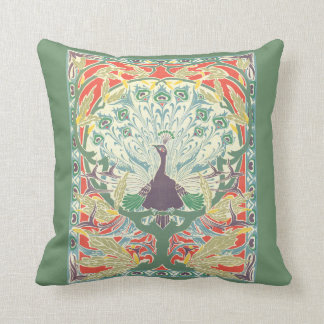 Art Nouveau Peacock Pillow