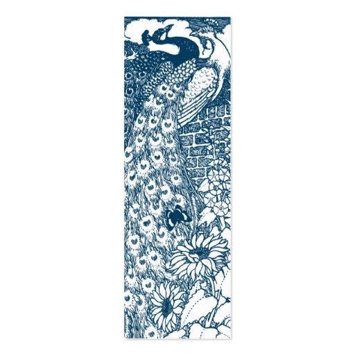 Art Nouveau Peacocks Business Card Templates