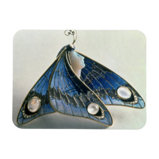 Art Nouveau pendant in the form a butterfly, c.190 Rectangle Magnet