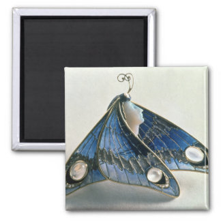 Art Nouveau pendant in the form a butterfly, c.190 Square Magnet