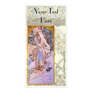 Art Nouveau Personalized Photo Card