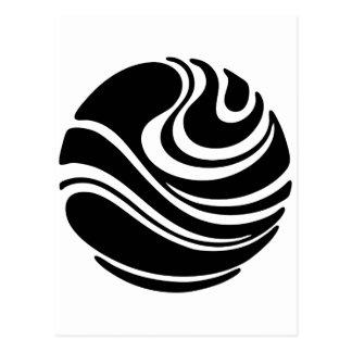 Art Nouveau Planet Swirl Motif Postcard