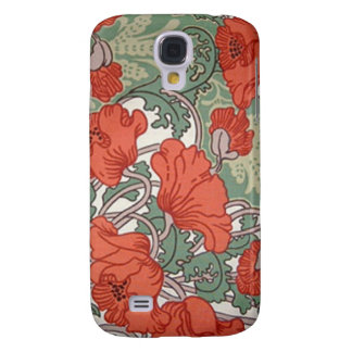 Art Nouveau Poppies Galaxy S4 Case
