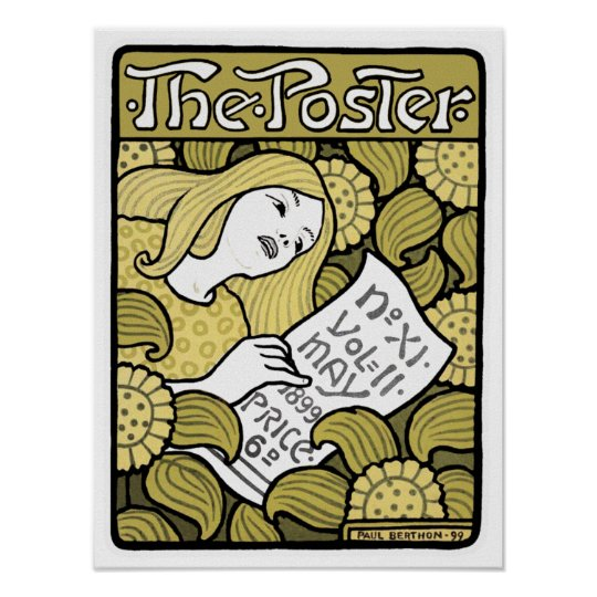 "Art Nouveau Poster Print: ""The Poster"" by Berthon"