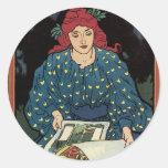 Art Nouveau Poster Stickers