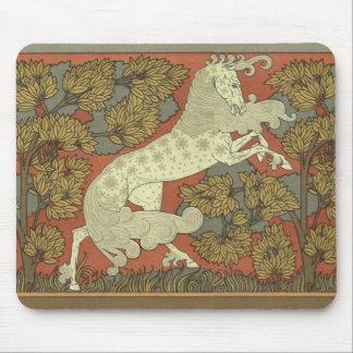 Art Nouveau Prancing Horse Mouse Mat