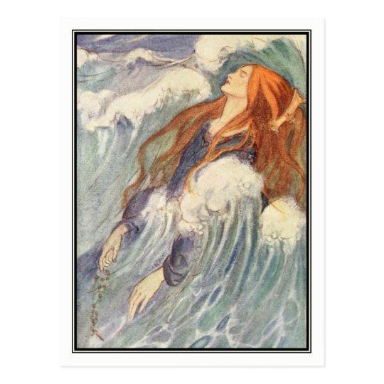 Art Nouveau Princess by Florence Harrison Postcard