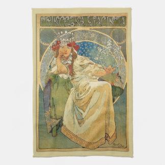 Art Nouveau Princess Hyacinth Kitchen Towel