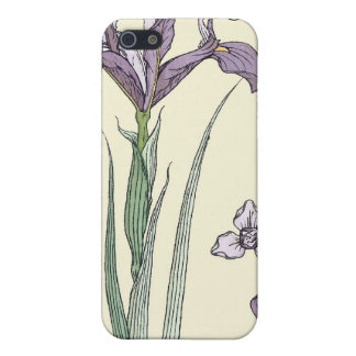 Art Nouveau Purple Iris iPhone Cover Case For The iPhone 5