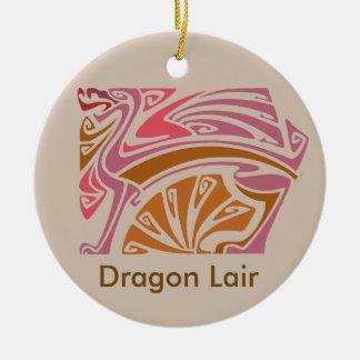 Art nouveau Red Dragon Lair ornament door hanger