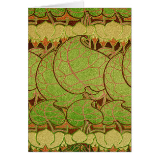 Art Nouveau Relief Pattern #5 Greeting Card