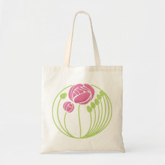 Art Nouveau Rose in the Style of Rennie Mackintosh Budget Tote Bag