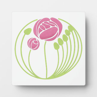 Art Nouveau Rose in the Style of Rennie Mackintosh Plaque