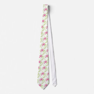 Art Nouveau Rose in the Style of Rennie Mackintosh Tie