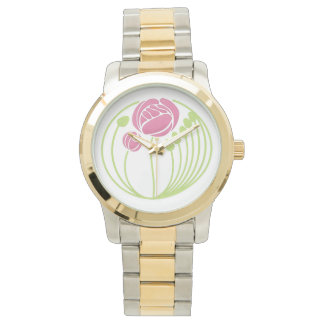 Art Nouveau Rose in the Style of Rennie Mackintosh Watch