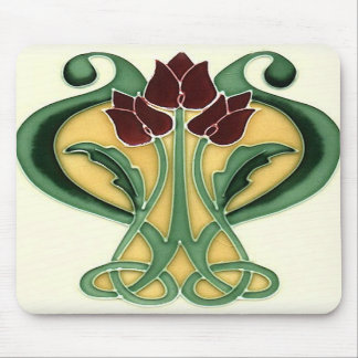 Art Nouveau Rose Tile Mousepad