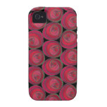 Art Nouveau Roses Pattern in Pink and Red