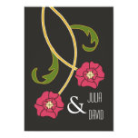 Art Nouveau Rosesl Wedding Invitation 13 Cm X 18 Cm Invitation Card