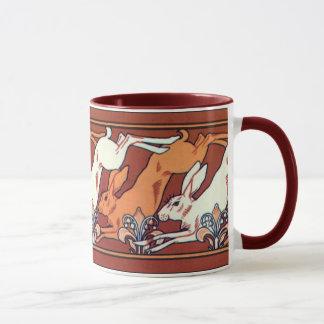 Art Nouveau Running Hares Mug