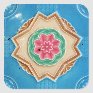 Art Nouveau's Majolica Tiles Square Sticker