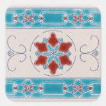 Art Nouveau's Majolica Tiles Square Stickers