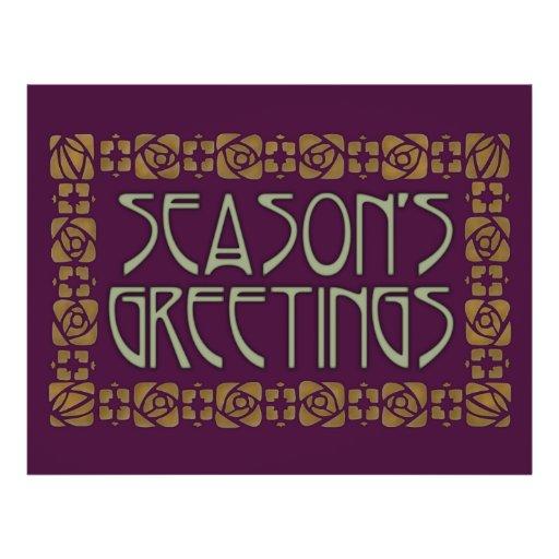 Art Nouveau Season's Greetings Flyers