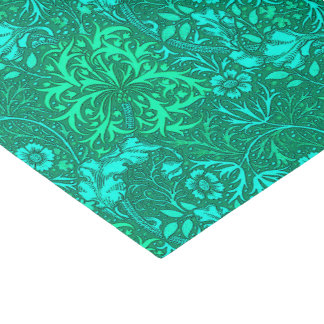 Art Nouveau Seaweed Floral, Turquoise and Aqua Tissue Paper