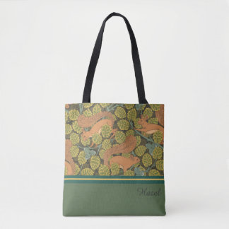 Art Nouveau Squirrel Design Tote Bag