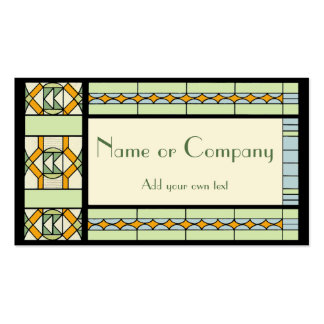 Art Nouveau Stained Glass Business Cards