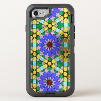 Art nouveau stained glass window OtterBox defender iPhone 8/7 case