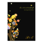 Art Nouveau Style Whimsical Trees Black Wedding 13 Cm X 18 Cm Invitation Card
