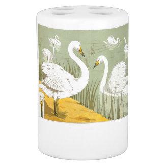 Art Nouveau Swan Birds Wildlife Animals Bath Set