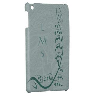Art Nouveau Teal Snowdrops Custom iPad Mini Case