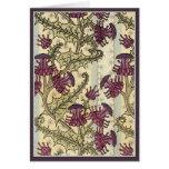 Art Nouveau Thistle flower Cards