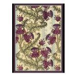 Art Nouveau Thistle flower Post Card