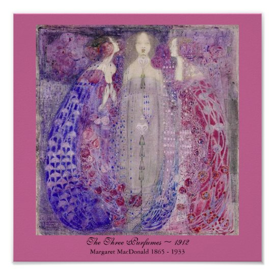 Art Nouveau Three Perfumes Margaret MacDonald 1912 Poster