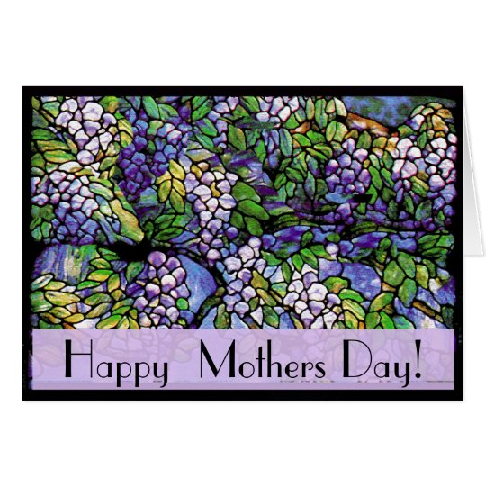 Art Nouveau Tiffany Stained Glass Nature Card