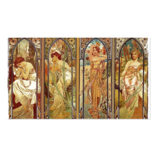 Art Nouveau Times of Day Pack Of Standard Business Cards